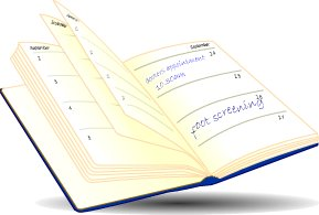 Open diary page